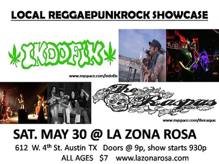Local ReggaePunkRock showcase w/Indofin & The Raspas
