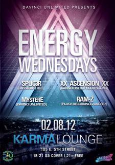 ENERGY Wednesday 18+, $5 Hookahs ALL night/$2 Wells/$4 Calls