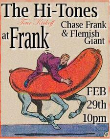 The Hi-Tones with Chase Frank & Flemish Giant