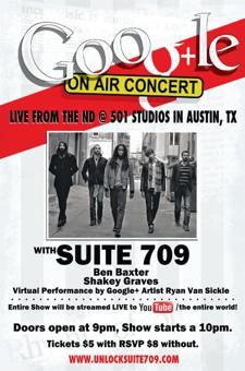 Google+ LIVE Concert w/ Suite 709, Ben Baxter &amp; Shakey Graves