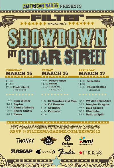 Filter  Magazine's Showdown @ Cedar Street Day 1 (Free w/ RSVP)