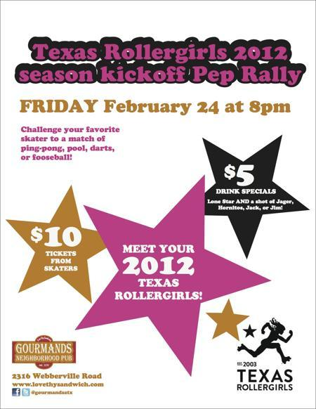 TX Rollergirls 2012 Season Kickoff Pep Rally