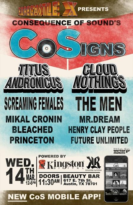 CoSigns Unofficial Day Party w/ Cloud Nothings and Titus Andronicus (FREE with RSVP)