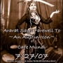 Leila's Going away Party & Ararat Benefit, July 27th @ Cafe Mundi