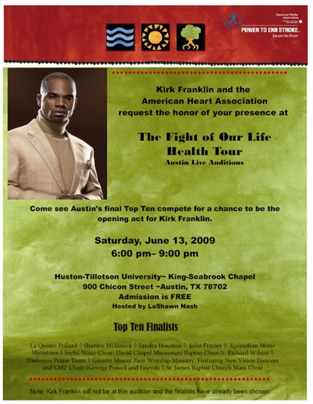 The Fight of Our Life Health Tour - Austin Live Auditions