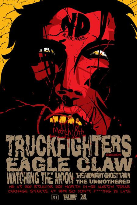 TRUCKFIGHTERS with Eagle Claw /  Watching the Moon/ Midnight Ghost Train/ The Unmothered