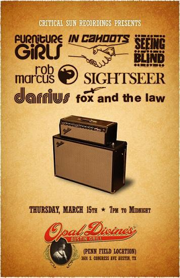 Critical Sun Recordings Presents: Furniture Girls, In Cahoots, Seeing Blind & more (FREE)