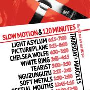 Slow Motion (LAX) & 120 Minutes (SFO) present: Light Asylum, Pictureplane, White Ring, Chelsea Wolfe (Free w/ RSVP on Do512)
