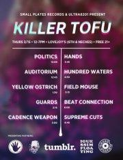 Killer Tofu Party presented by Small Plates Recs, Ultra8201, Tumblr, and Left Hand Brewing (FREE w/ RSVP on Do512)