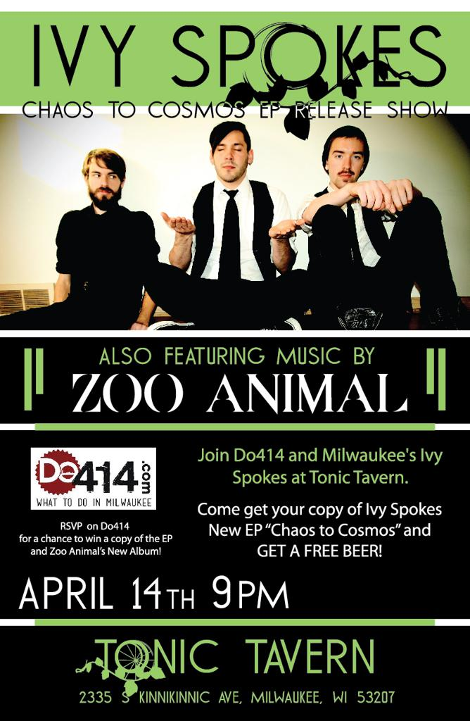 414 Day! Ivy Spokes EP Release show w/ Zoo Animal