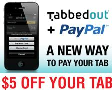 Get $5 off your tab with Tabbedout!