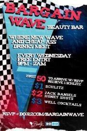 Do312.com & Beauty Bar Present: BARGAIN WAVE  $1 Beers All Night + Hosted Schlitz + More w/ RSVP