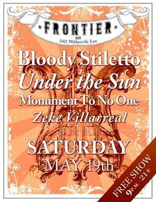 Bloody Stiletto plays Frontier Bar Grand Opening