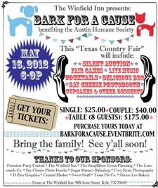 Bark For A Cause benefiting the Austin Humane Society