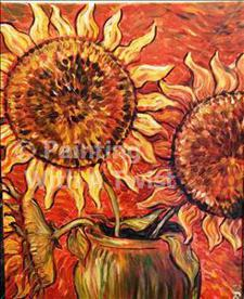 "Painting With a Twist - ""Orange Sunflowers"""
