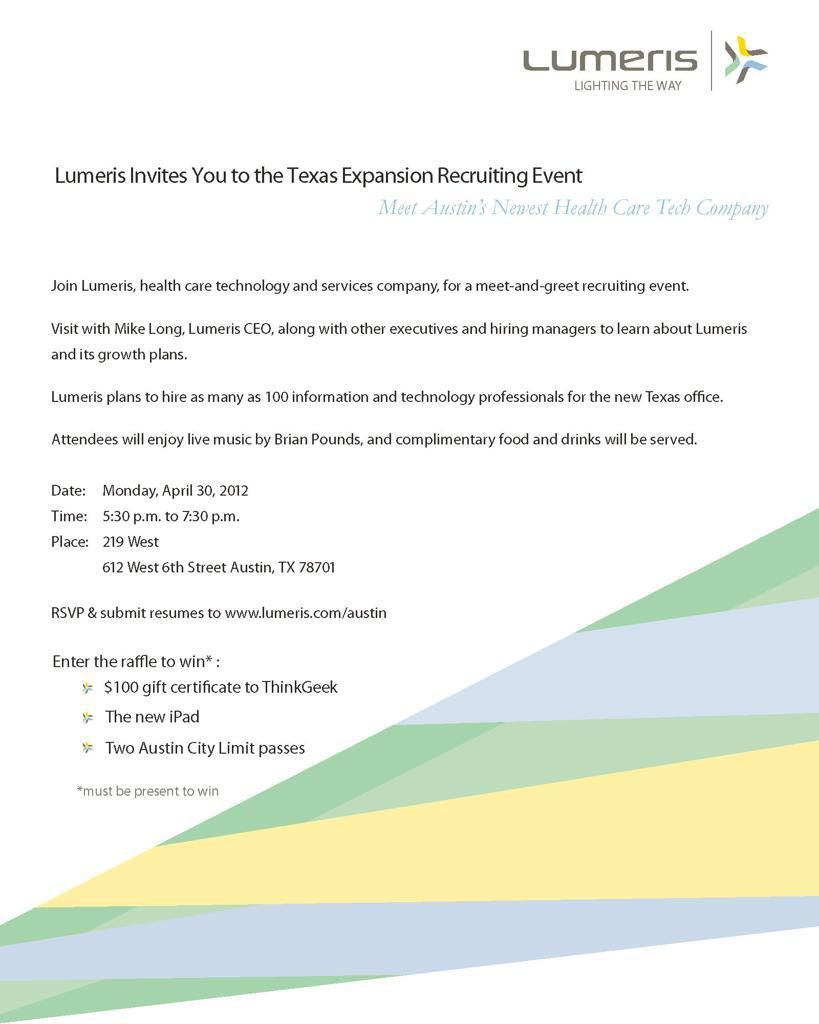 Lumeris Texas Expansion Recruiting Event - Austin's Newest Health Care Tech Company