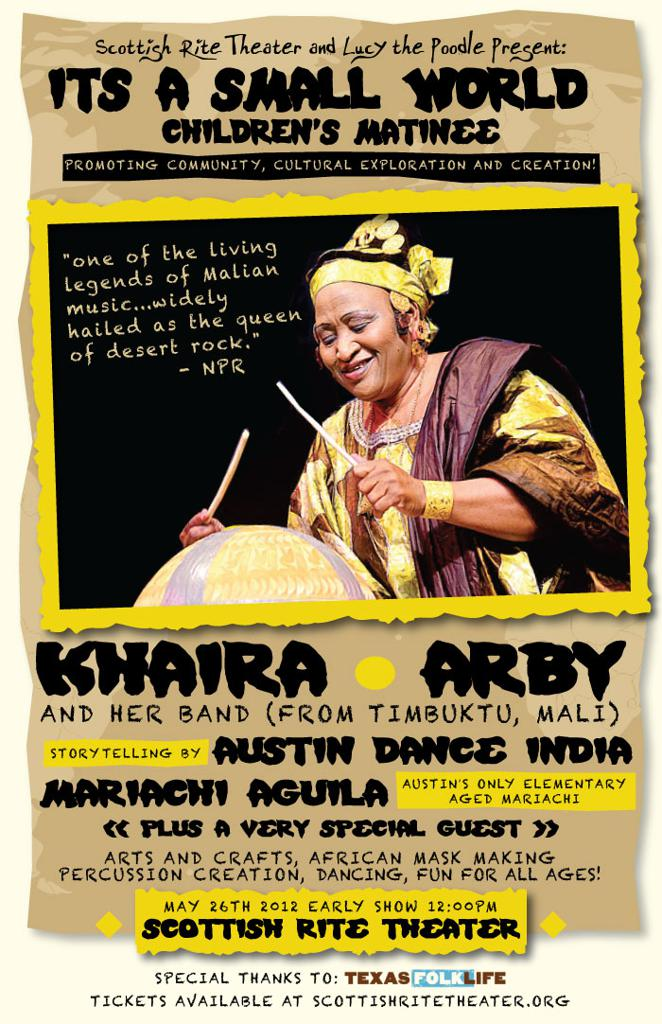 It's a Small World Children's Matinee feat. KHAIRA ARBY (Mali)