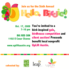 Hello Birdie: gala and silent art auction to benefit local nonprofit