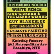 Panache Booking CMJ Showcase: Reigning Sound, White Fence, King Gizzard & The Lizard Wizard, Shonen Knife, Guy Blakeslee, Ice Balloons, Ultimate Painting