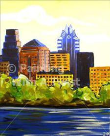 Painting With a Twist - &quot;Austin Morning&quot;
