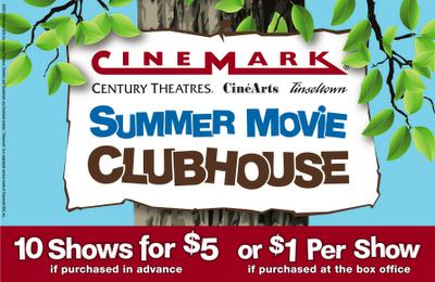 Cinemark's Summer Movie Clubhouse!