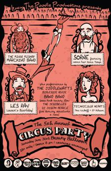 Lucy The Poodle's 5th Annual Circus Party with The Minior Mishap Marching Band