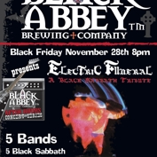 The Basement and Black Abbey Brewing Present Electric Funeral A Tribute To Black Sabbath Black Labbath, Iommi Judd, Sky Temple Blues,  Grimey and Friends
