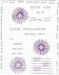 ELUSIVE PARALLELOGRAMS(EP Release!), WORRIER, RED STUFF, MOSS FOLK