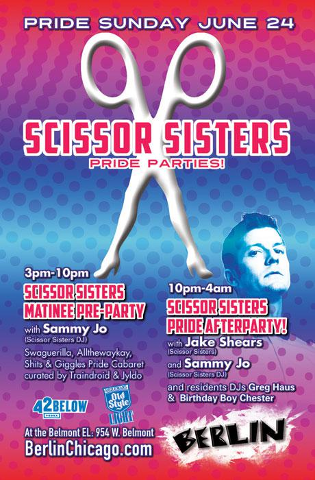 Scissor Sisters Afterparty w/Jake Shears & Sammy Jo