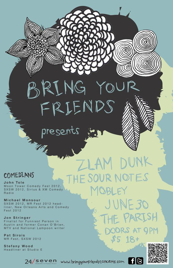 Zlam Dunk, The Sour Notes, Mobley + stand-up comedy!