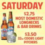 Saturday Specials: Free Dance Lessons, $2.75 Wells & Domestics