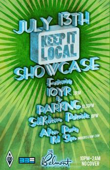 Keep It Local Showcase w 10YR, Parking, Super Villains + Kid Slyce