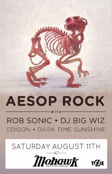 Aesop Rock w/ Rob Sonic and DJ Big Wiz + Edison + Dark Time Sunshine