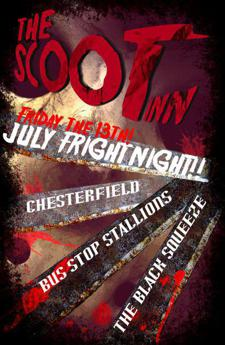 "Friday the 13th ""Fright Night"" @ the Scoot Inn- Costumes Get in Free!"