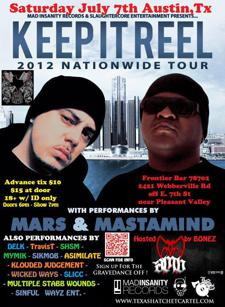 """Keep it Reel"" w/ Mastamind, Mars, & More!!! Early Show (6PM-10PM) Later Show (10PM-2AM)!! Complimentary Miller Lite Keg!!!"