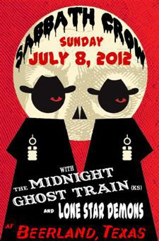 Sabbath Crow, The Midnight Ghost Train & Lone Star Demons at Beerland