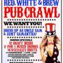 World Famous 4th of July Pub Crawl - San Francisco Edition Red White &amp; Brew Pub Crawl