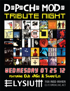 Depeche Mode Tribute Night Featuring DJ Argo &amp; Shame:Les