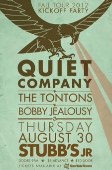 Quiet Company with The Tontons, Bobby Jealousy