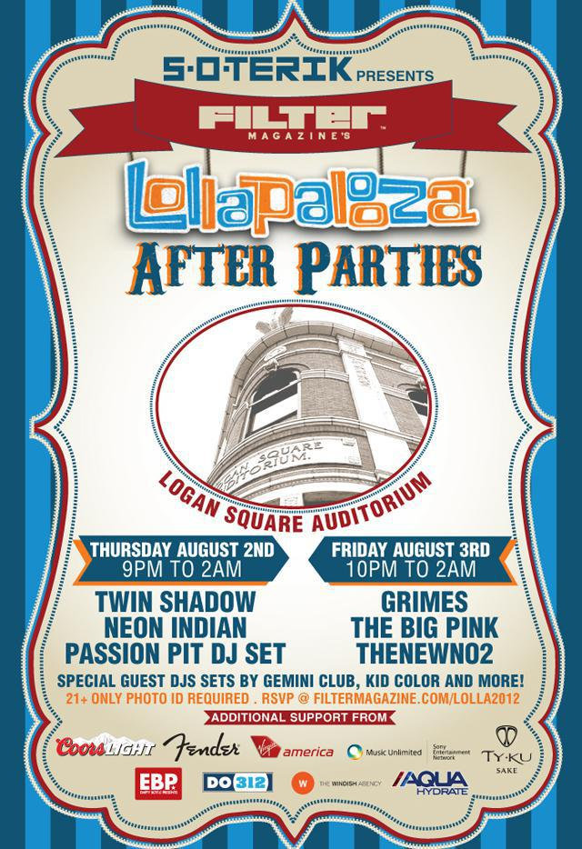 S.O.TERIK presents FILTER MAGAZINE LOLLAPALOOZA PARTY