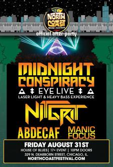 MIDNIGHT CONSPIRACY w/ Nit Grit, AbdeCaf, Manic Focus