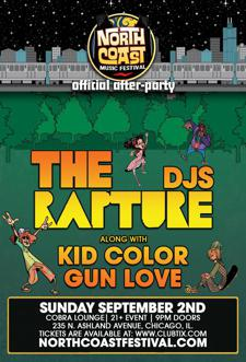 THE RAPTURE DJ's w/ Kid Color, Gun Love
