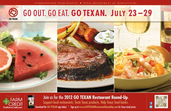 Go Texan Restaurant Round Up Week