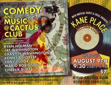 CACTUS COMEDY SHOW + Musical guest: KANE PLACE RECORD CLUB