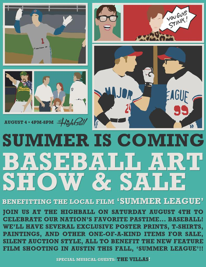 Baseball Art Show + Sale // Fundraiser for ATX indie film, 'Summer League'