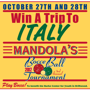 Win a Trip to Italy! Play Bocce Ball.
