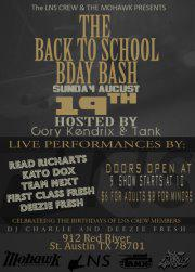 LNS CREW Back to School Bday Bash w/ READ RICHARts + Kato DOx + Team Next + First Class Fresh + Deezie Fresh