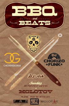 BBQ + Beats w Chicken George, Chorizo Funk, Abe the Assassin and DJ Ash