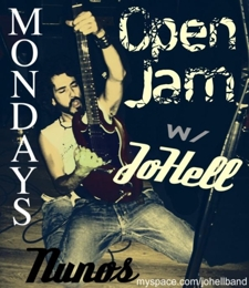 Nuno's Blues & Classic Rock    -OPEN JAM-     every monday 10pm-2am