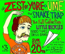 Australian Cattle Gods Records Nite w/ Zest of Yore, Snake Trap, Ume, Good Times Crisis Band, Fall Collection, &amp; Little Bicycles